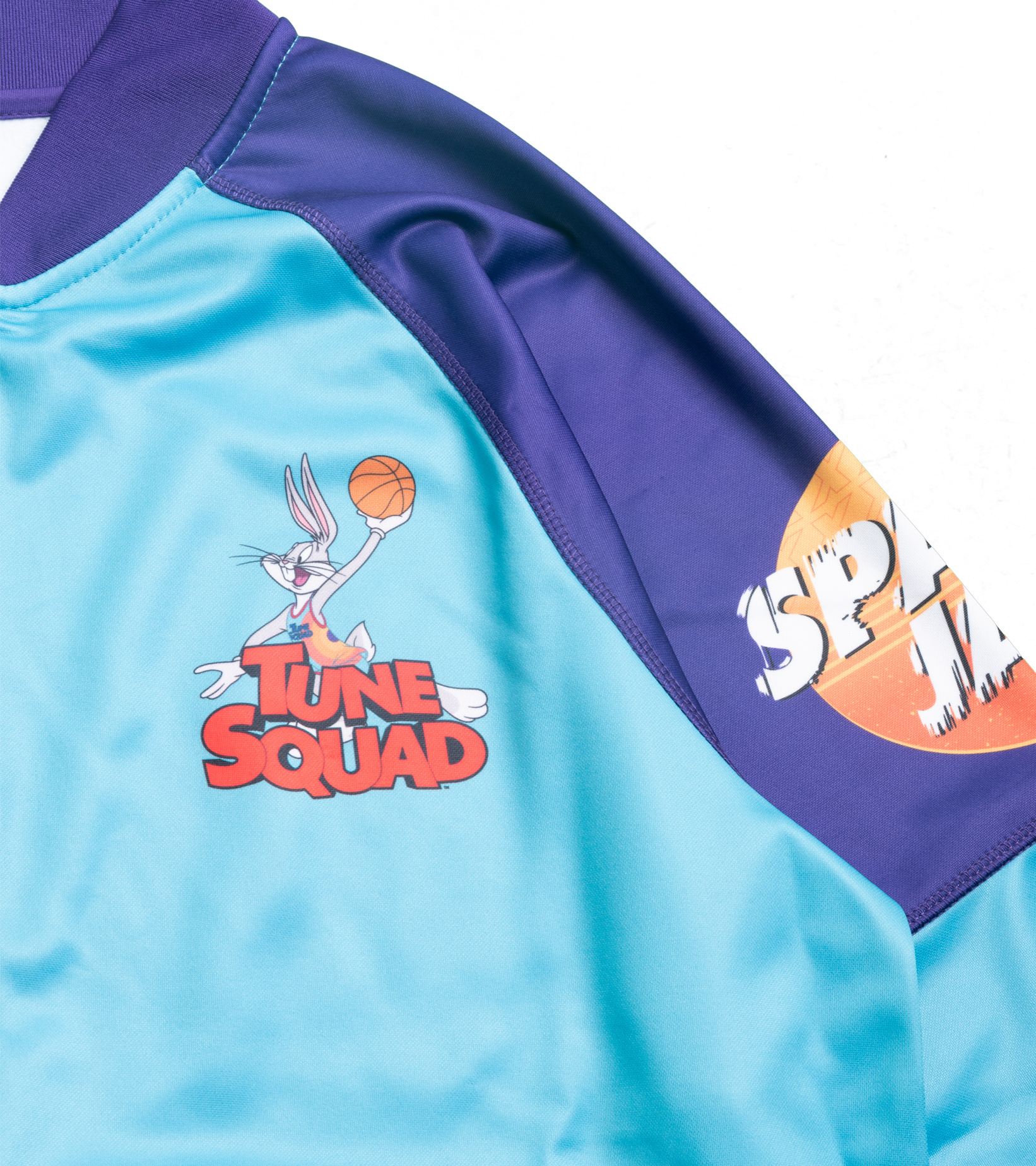 """Game Changer Space Jam 2 Full-Zip Jacket (Youth) """"Teal/Purple""""-2"""