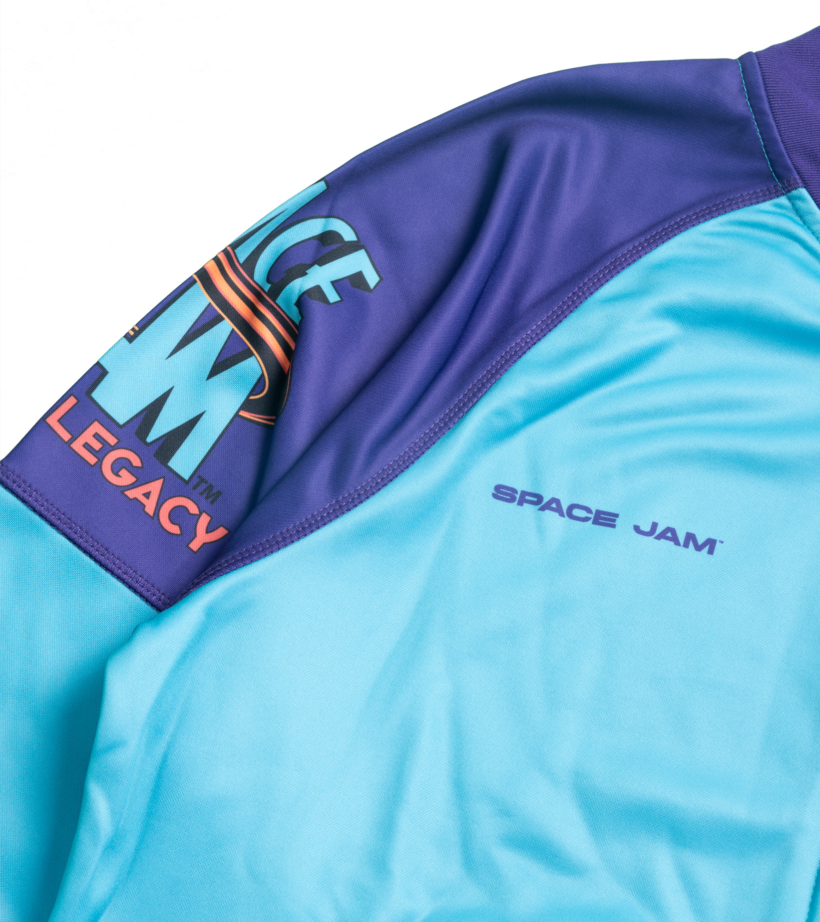 """Game Changer Space Jam 2 Full-Zip Jacket (Youth) """"Teal/Purple""""-3"""