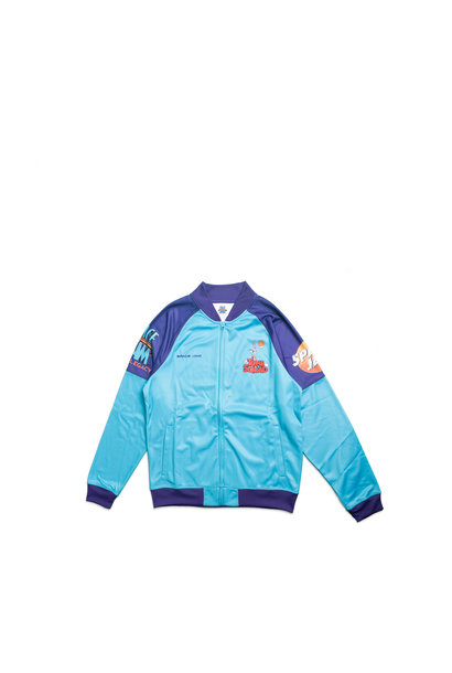"""Game Changer Space Jam 2 Full-Zip Jacket (Young Boys) """"Teal/Purple"""""""