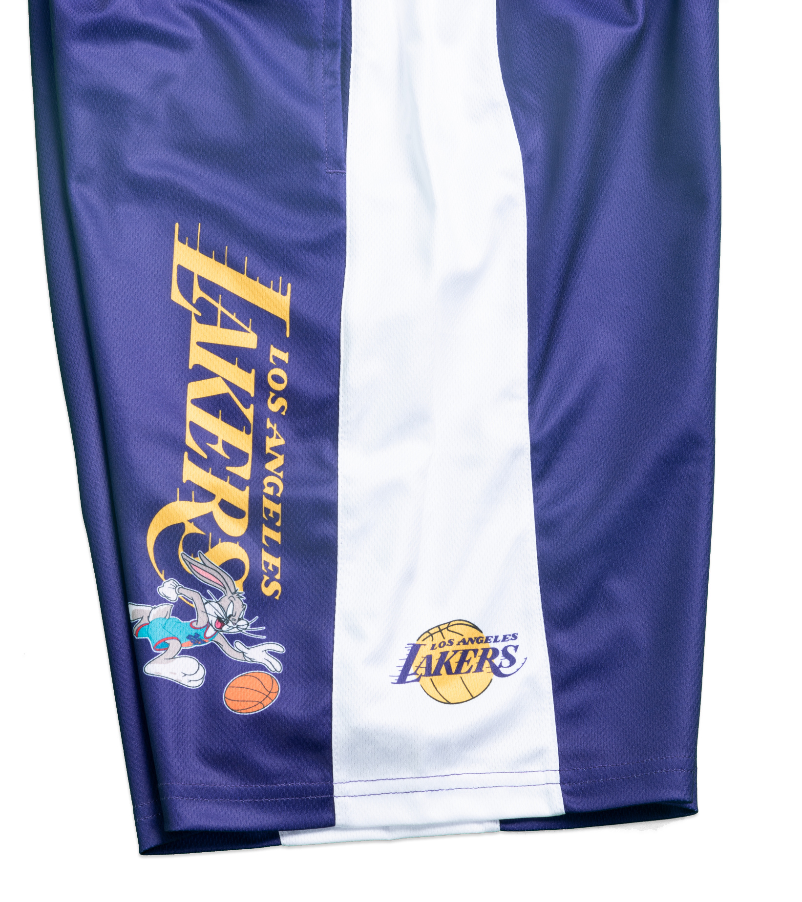 "LA Lakers Team Backboard Block Mesh Short (Youth) ""Purple""-2"