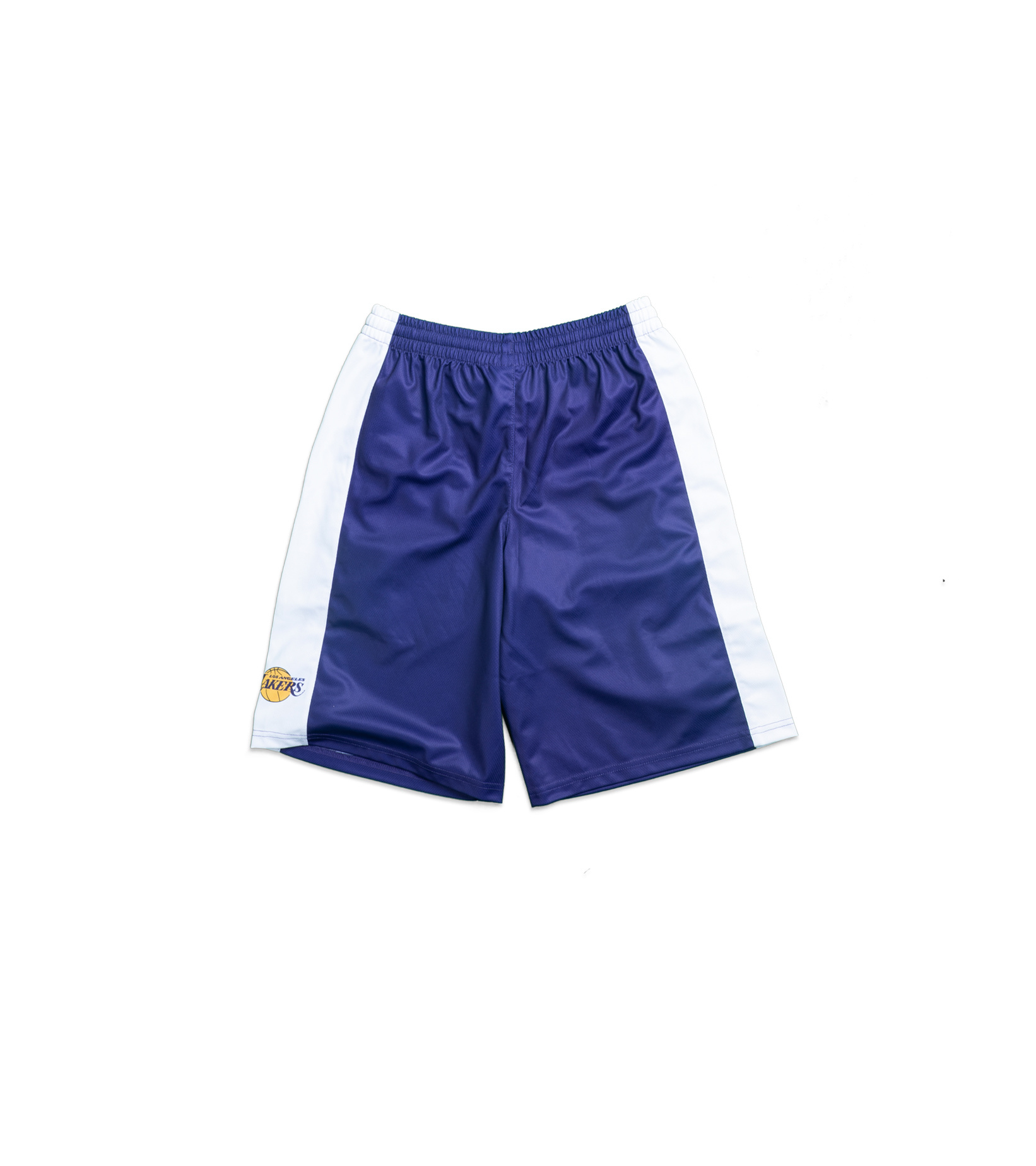 "LA Lakers Team Backboard Block Mesh Short (Youth) ""Purple""-4"