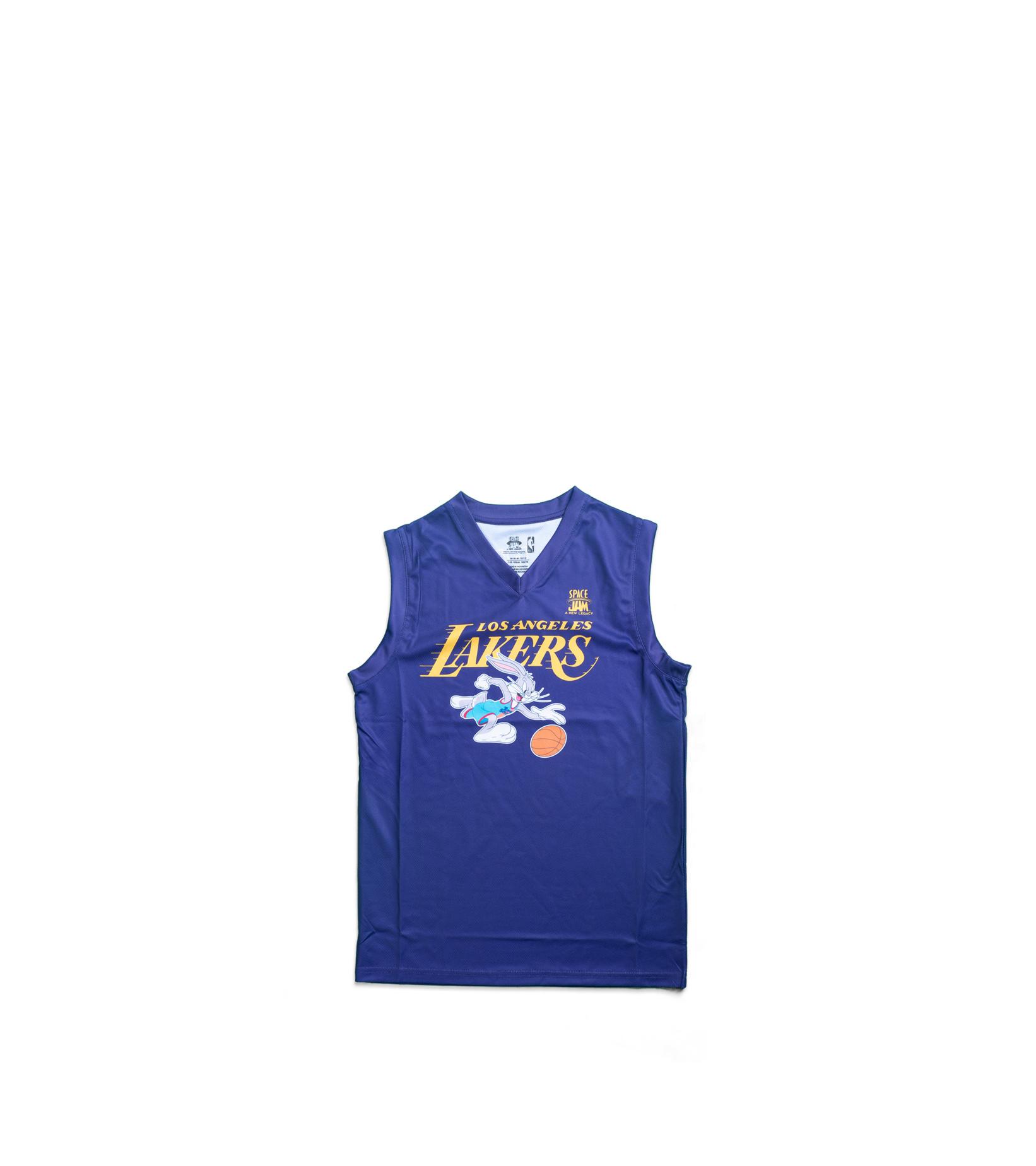 "LA Lakers Team Slam Dunk Mesh Tanktop (Young Boys) ""Purple""-1"