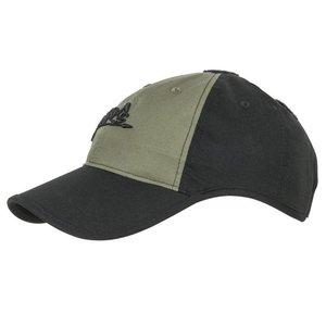 Helikon-Tex Logo Cap - Black / Olive Green