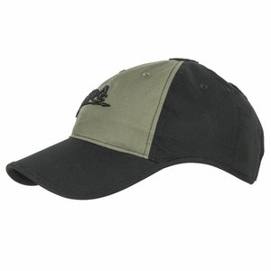 Helikon-Tex Logo Cap Black / Olive Green