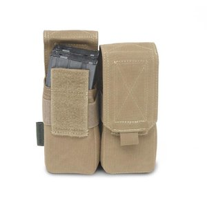 Warrior Assault Systems Coyote Tan Ammo Pouche Double M4 5.56mm Coyote