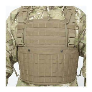 Warrior Assault Systems 901 Chest Rig Base with front zip opening Coyote Tan
