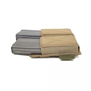 Warrior Assault Systems Double Elastic Mag Pouch Coyote Tan