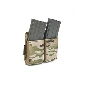 Warrior Assault Systems Double Elastic Mag Pouch Multicam