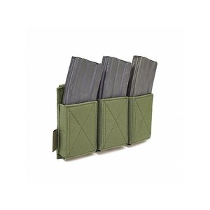 Warrior Assault Systems Triple Elastic Mag Pouch Olive Drab