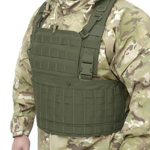 Warrior Assault Systems 901 Chest Rig Base with front zip opening Olive Green