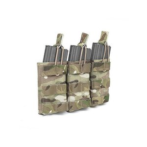 Warrior Assault Systems Triple Open Mag Pouch Multicam