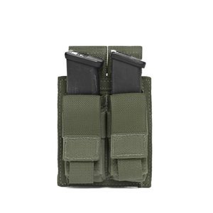 Warrior Assault Systems Direct Action Double 9mm Pistol Mag Pouch Olive Drab