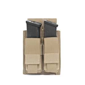 Warrior Assault Systems Direct Action Double 9mm Pistol Mag Pouch Coyote