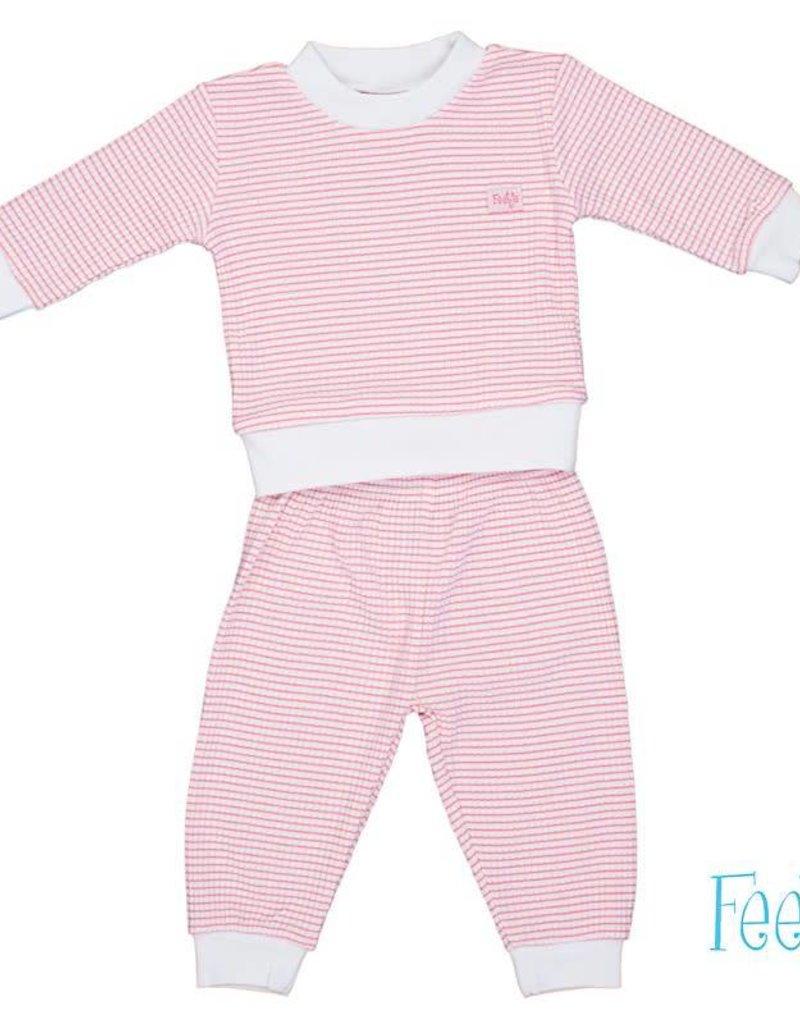 Babykleding Maat 86.Baby Pyjama Feetje Wafel Lichtroze Bbftj305532 Bo En Belle