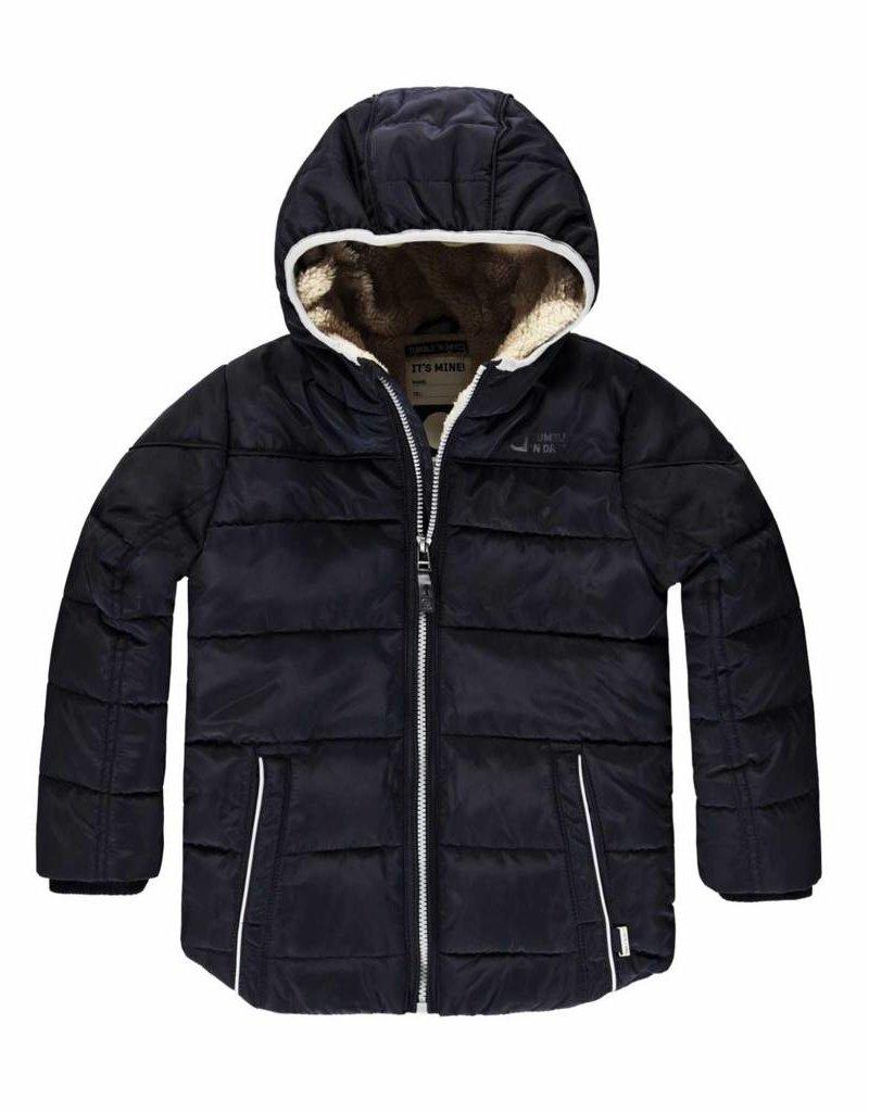 Kinderkleding Winterjas.Winterjas Beaden Donkerblauw Bbtndt170753004 Bo En Belle