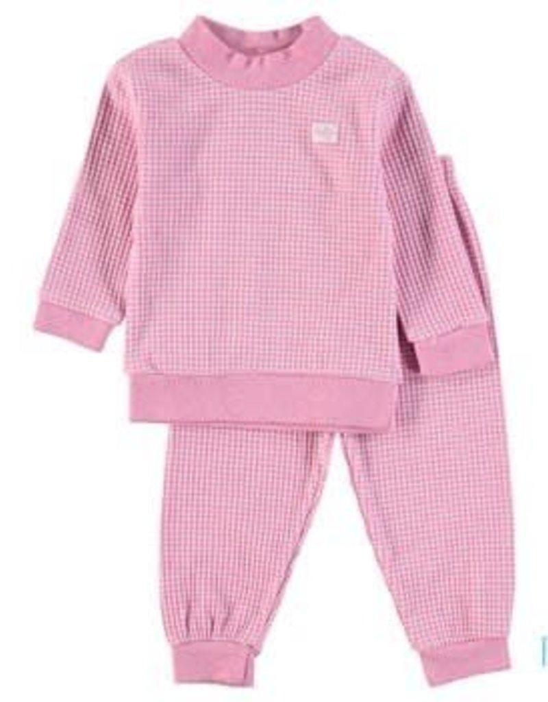 Feetje Kinderkleding.Baby Pyjama Wafel Roze Melange Bb305533 Bo En Belle Kinderkleding