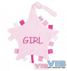 VERY IMPORTANT BABY Tutteldoekje 'Girl' Roze