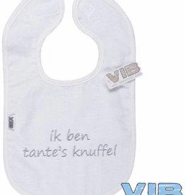 VERY IMPORTANT BABY Slabbetje 'Ik ben tante's knuffel' White