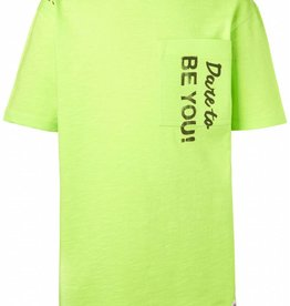 NOP T-shirt 'Lyons' yellow korte mouw