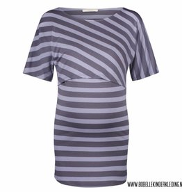 Supermom Supermom Voedingsshirt 'Alice' blue striped