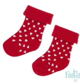 Feetje Baby sokken 'Kiss me' Rood