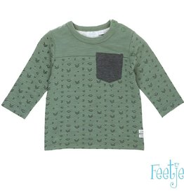 Feetje Shirt  'Team Trouble' Army