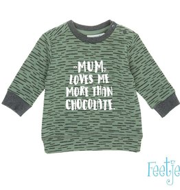Feetje Sweater Mum 'Team Trouble' Army