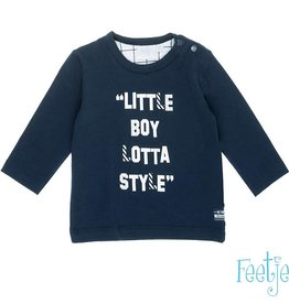 Feetje Shirt 'Little boy Hi There' Marine