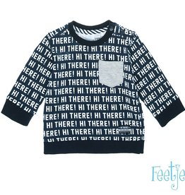 Feetje Sweater 'Hi There' Marine