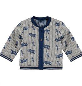 Noppies Vest 'Leeds' reversable blauw