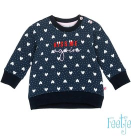 Feetje Sweater 'Kiss me' Marine