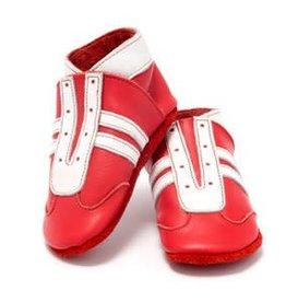Baby Dutch Lederen slofjes sneakers rood
