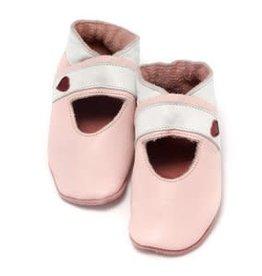 Baby Dutch Lederen slofjes roze open