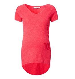 Supermom Positie shirt 'Sya' koraal rood