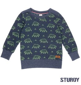 Sturdy Sweater 'Outsiders' indigo animal