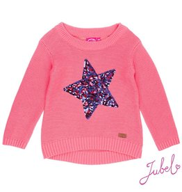 Jubel Sweater knitted 'Frosted' Koraal