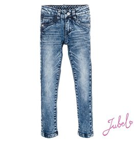 Jubel Jubel 'Dark blue denim power stretched slim fit' Blue Denim