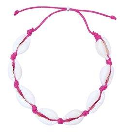 LoveLinn Enkelbandje schelp roze