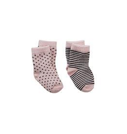 Z8 Sokken 'Nadette' soft pink/antraciet
