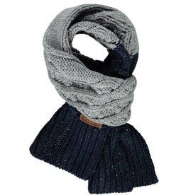 Tumble 'n Dry Sjaal  'Oris' Donkerblauw/Grijs