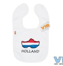 VERY IMPORTANT BABY Slabbetje 'Holland' klompjes wit
