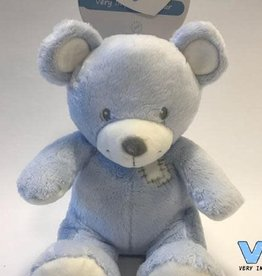VERY IMPORTANT BABY VIB pluchen beer 35cm zittend blauw