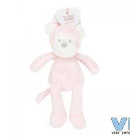 VERY IMPORTANT BABY VIB pluchen knuffel aap 35cm roze