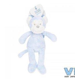 VERY IMPORTANT BABY VIB pluchen knuffel aap 35cm blauw