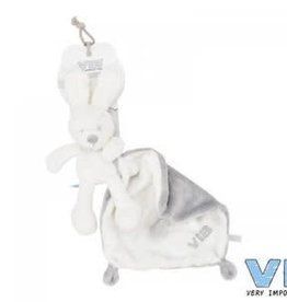 VERY IMPORTANT BABY Konijn met doekje pluche wit