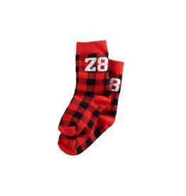 Z8 Z8 sokken 'Bosse' rood/zwart