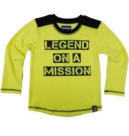 Legends22 Legends 22  Shirt Legend on a Mission neon geel