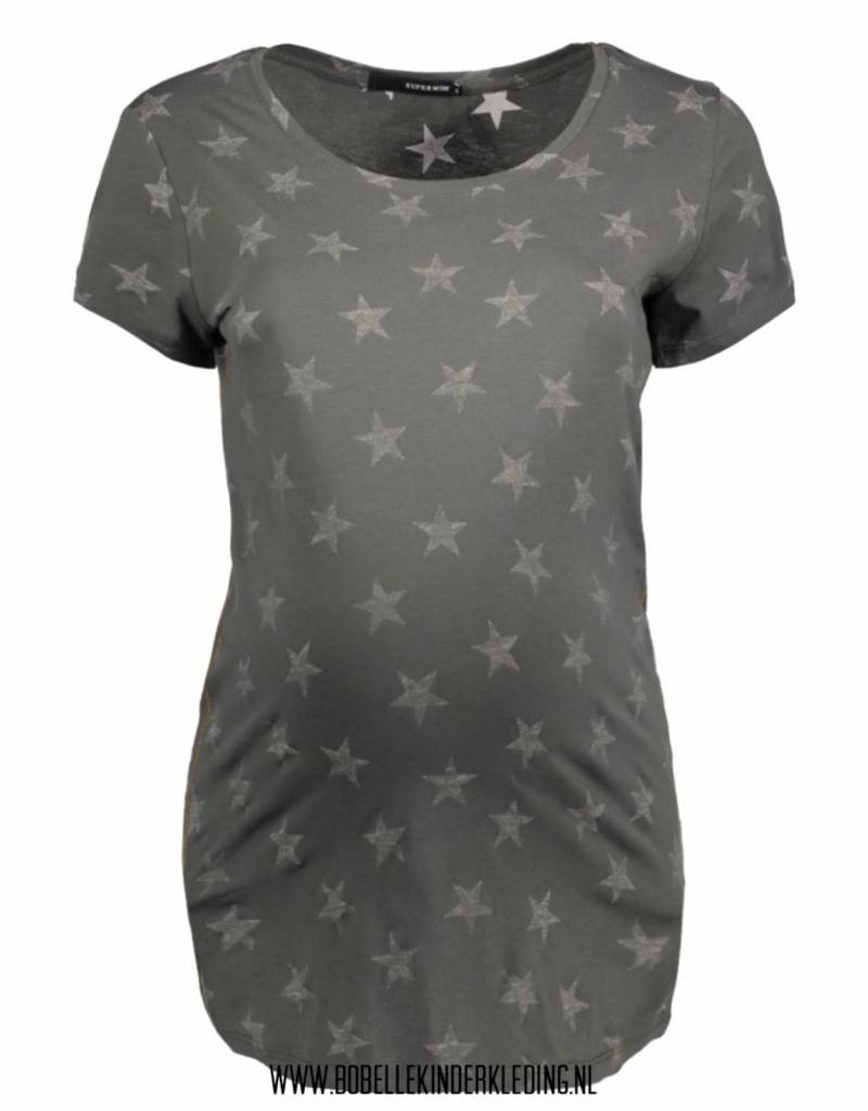 Supermom Supermom T-shirt 'Star' army green