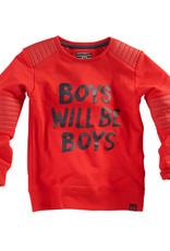 Z8 Sweater 'Basilis' boys will be boys rood