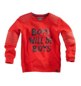 Z8 Sweater 'Basilis' boys will be boys rood
